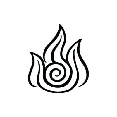 Fire Element - Avatar Vinyl Decal Computer Bumper Sticker Window Stickers ()