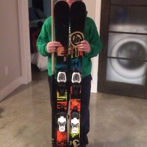 K2 twin tip skis with marker 7.0 bindings