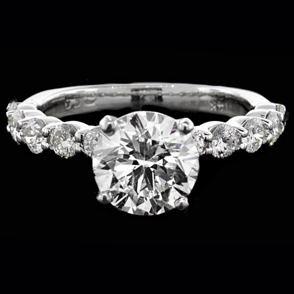 2.00 Ct Round Cut Solitaire Diamond Engagement Ring 14k White Gold G Color Si2