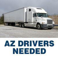 AZ over the road drivers needed +weekly bonus