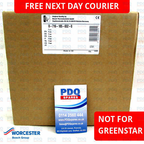 WORCESTER 24I & 28I JUNIOR FAN ASSY 87161056520 - BRAND NEW *FREE NEXT DAY P&P*