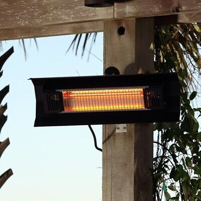 Black Wall Mounted IR Patio Heater, High Power, Electric, Cheap, New