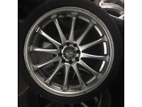 Dezent alloy wheels with tyres multi stud 4100 4114.3 polo lupo Honda ford Renault Peugeot Vauxhall