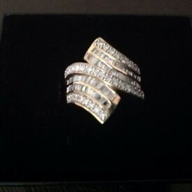 1ct diamond and 9ct gold