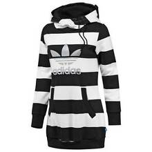 NEW Women's Adidas Originals Long Striped Hoodie Size 10 West Lakes Charles Sturt Area Preview