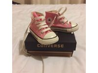 Infant girls pink converse size 5 & 7