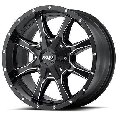 16 Inch Black Milled Wheel Rim Gmc Sierra 2500 3500 Truck Moto Metal Mo970 8 Lug
