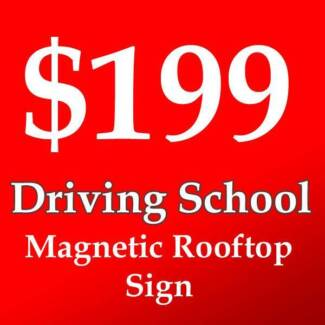 driving school roof signs australia - $199