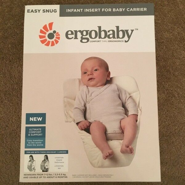 c139eb67008 Ergobaby Easy Snug Infant Insert  Original Natural
