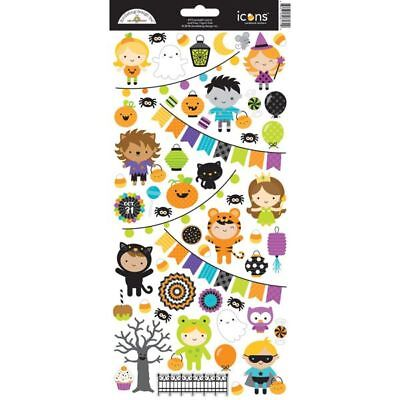 Scrapbooking Crafts Doodlebug Pumpkin Party Stickers Halloween Ghosts Costumes](Craft Halloween Costumes)