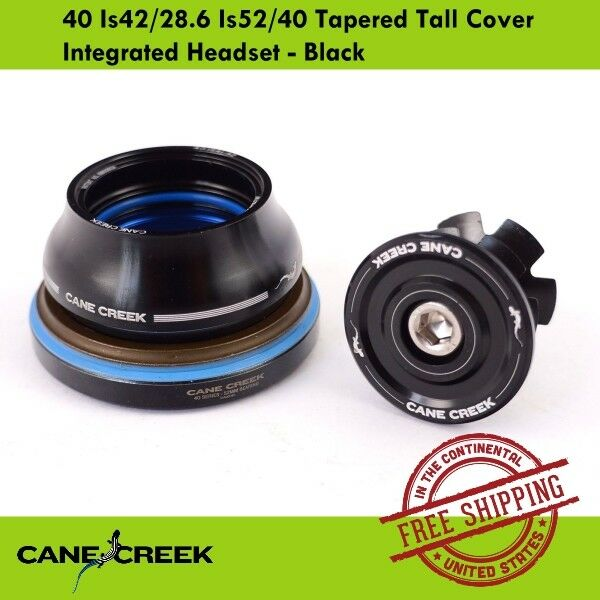 NEW Cane Creek 40 IS42//28.6 IS52//40 Short Cover Headset Black FULL WARRANTY