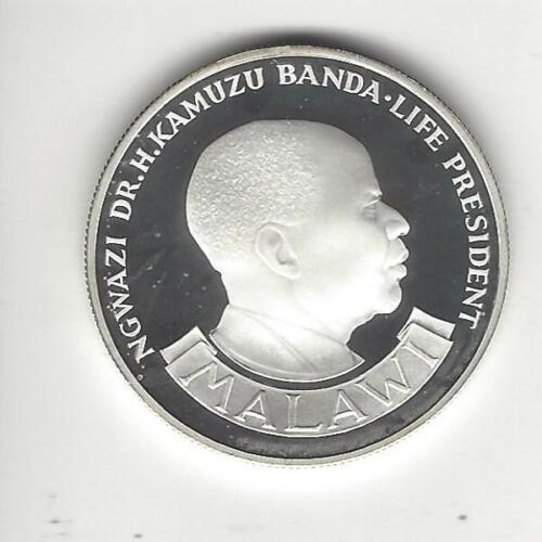 Malawi 10 Kwacha, 1974, Proof, Silver,10th Anniversary of Independ, Low Mintage!