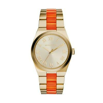 Michael Kors Channing Gold Orange Quartz Analog Women's Watch MK6153