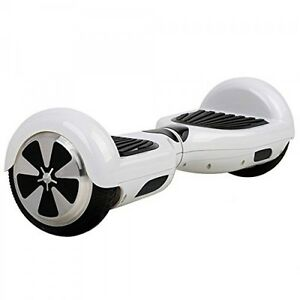 Electric Scooter / Hover Board with Lights WHITE Color  - NEW