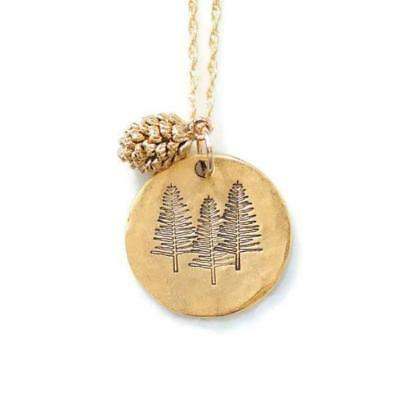 Pine Tree Necklace Pinecone Nature Handmade Jewelry Three Pines Trees Outdoors](Pinecone Jewelry)