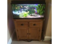 Plug and play 125L Tropical Aquarium Incl. Cabinet, fish & accesories