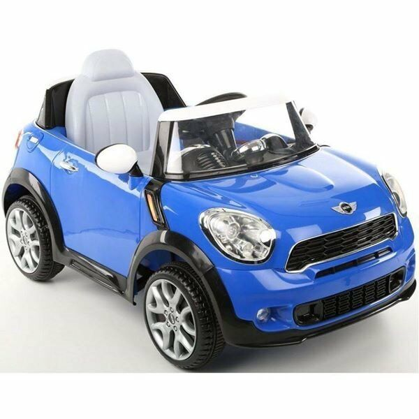 kids ride on car 6v mini cooper paceman blue kid trax ride on electric car