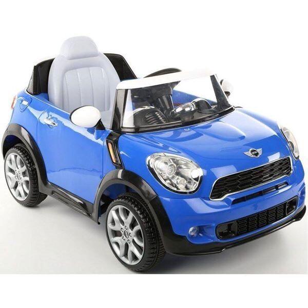 Kids Ride On Car 6v Mini Cooper Paceman Blue Kid Trax Ride On