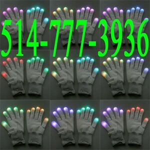 Gants Party LED 7 Mode Rave Light Finger Lighting Flashing Glow