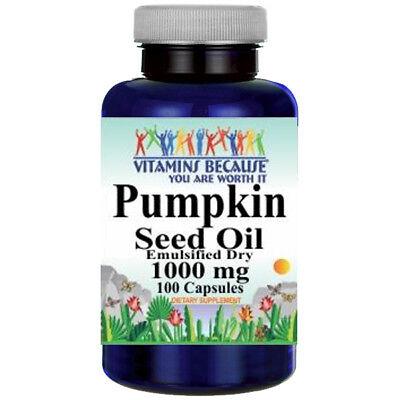 Pumpkin Seed Oil 1000 mg 100 Caps - Emulsified Dry (Cucurbito Pepo - Seed)