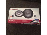 Brand new pioneer 6.5 inch speakers with seperate tweeters