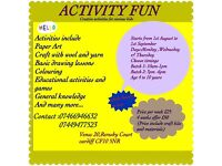 SUMMER HOLIDAY ACTIVITES FOR KIDS