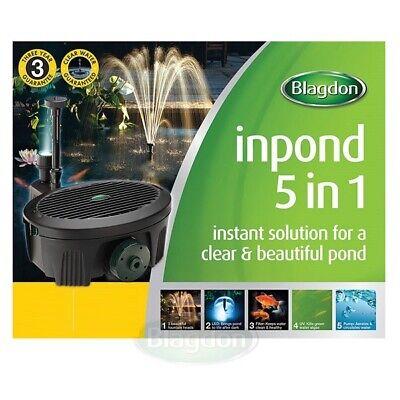 Blagdon Inpond 5-in-1 Filter Pump UV Filtration System - Koi Pond UVC Clarifier