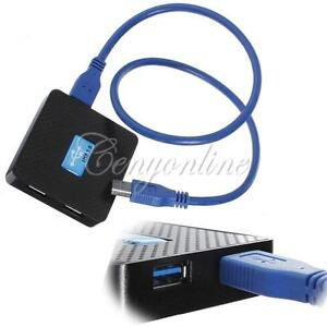 USB-3-0-Hub-4-Ports-5Gbps-PC-External-Extension-Adapter-Super-Speed-Cable-UK