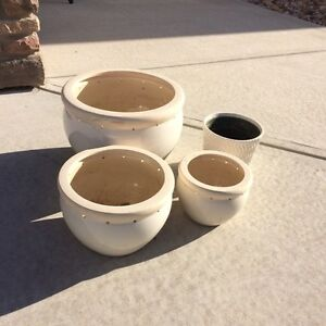 Flower Pots: set of 3 plus an Extra!