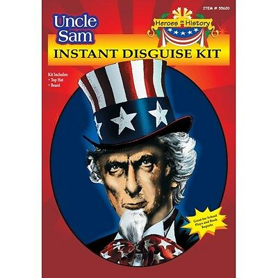 Uncle Sam Instant Disguise Costume Kit - Hat and Beard