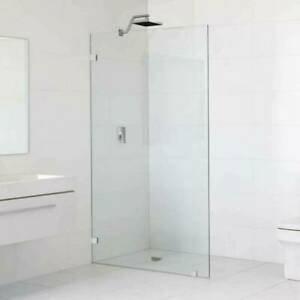 900x2000 Frameless Shower Screen Fixed Panel 10mm Thick Glass Wal