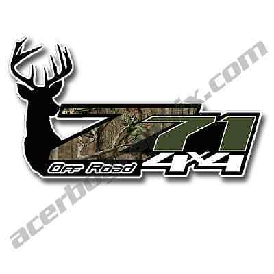 Z71 Off Road 4x4 Deer Head Camouflage Set of 2 Truck Decals/Stickers