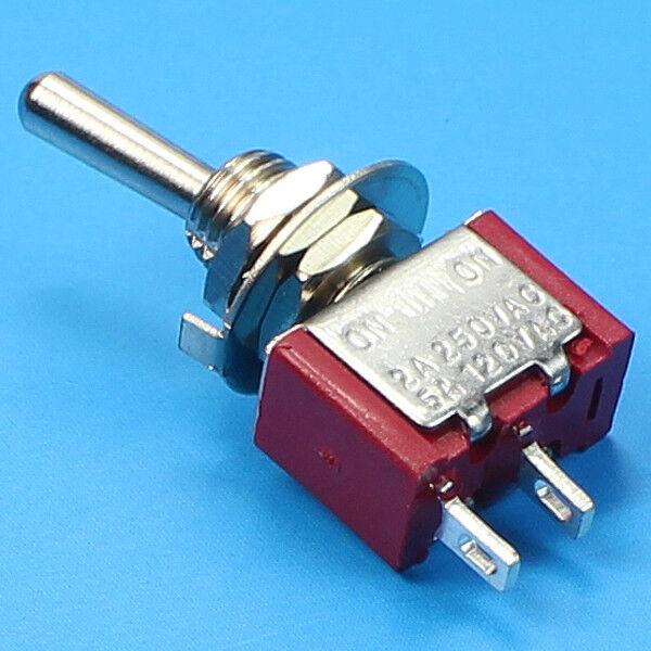 (1) NEW SPST Mini Toggle Switch ON-ON (On-Off) Solder Lug. USA SELLER!!!