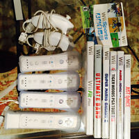 Wii + games + extra remotes