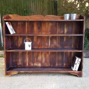 Rustic Vintage Slimline Bookcase Shelf Distressed Finish Coogee Eastern Suburbs Preview