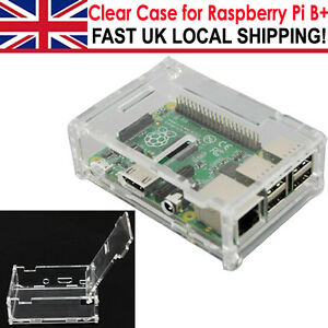 Acrylic Shell Case Enclosure Computer Clear Box for Raspberry Pi 2 and Model B+