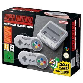 Nintendo Classic Mini Super Nintendo Entertainment System SNES UK Edition Brand New Sealed Box!