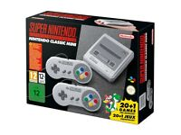 Nintendo Classic Mini Super Nintendo Entertainment System SNES UK Edition Brand New Sealed Box!
