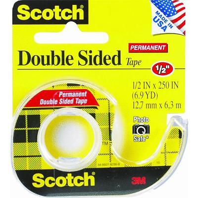 72 Pk 3m 12 X 250 Scotch Double Stick Tape Wdispenser 136