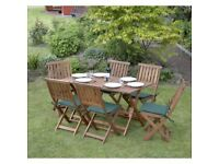 7 Piece Concord Hardwood Garden Furniture Set (SALE PRICE)
