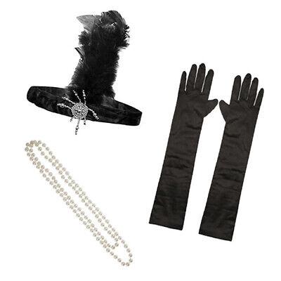 1920S 20S GATSBY CHARLESTON FLAPPER FANCY DRESS ACCESSORIES FOR COSTUME - Flapper Kostüm Kit