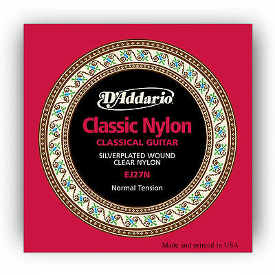 D'Addario EJ27N Classical Guitar Nylon String Normal Tension