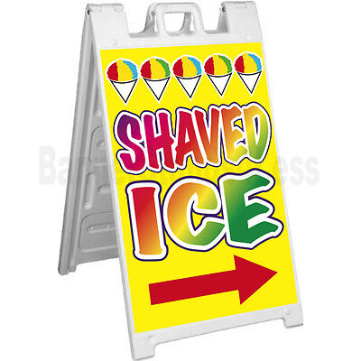 Shaved Ice A-frame Sign Signicade Sidewalk Sandwich Pavement Concession Sign