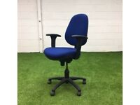 Royal Blue Adjustable Operator Chair 32 available