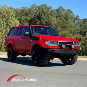 1990 Toyota Landcruiser HZJ80R Standard Red Manual Wagon Chevallum Maroochydore Area Preview