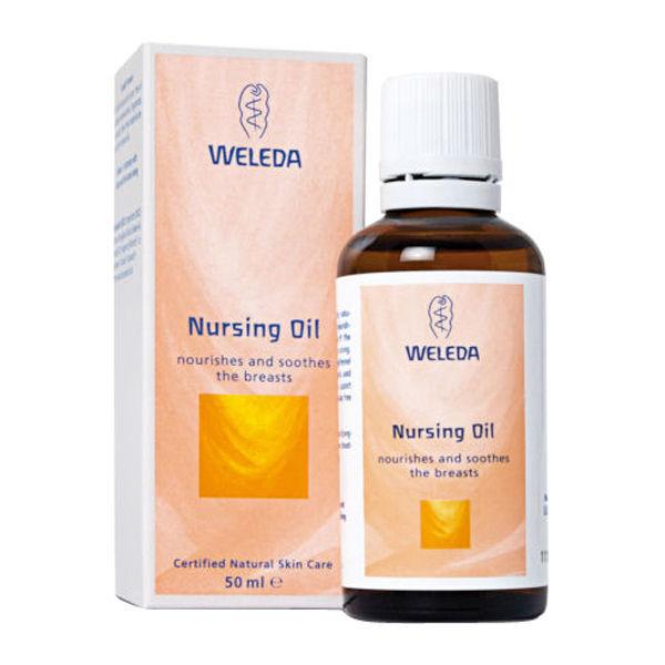 Weleda Nursing Oil 50ml Nourishes Soothes Breast Pregnancy Baby Massage Feeding