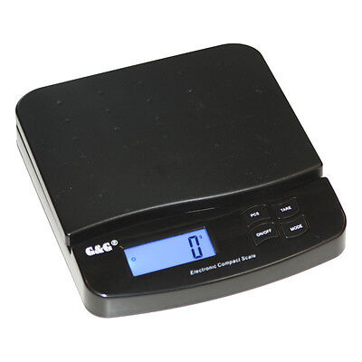 G&G SF-550 25kg/1g Brief- Paketwaage m. beleuchtetem XL LCD