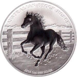 pièce en argent/silver bullion Stock Horse 2014 1 oz