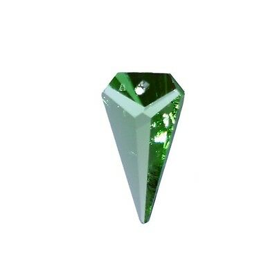 - Swarovski Strass Crystal 25mm Light Peridot Triangle Prism Pendant, Pack of 4