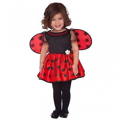 Marienkäfer Gr. 80 86 Kostüm Kinder Mädchen Glückskäfer Ladybug Karneval 92